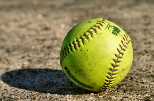 Softball on the ground