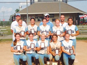 Coach Bill Baylog and Lady Blues Team Champions: July 2014