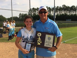 Proud Father and Coach Bill Baylog and Daughter July 2014