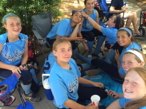 Lady Blues - Refuel Break NSA State Championship Tournament Coach Bill Baylog